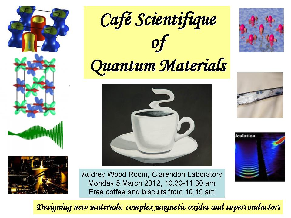 Cafe Scientifique | University of Oxford Department of Physics