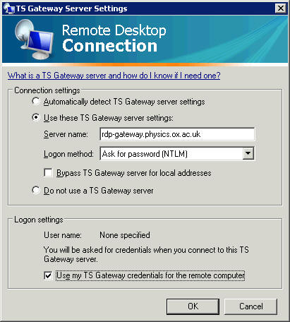 Remote Desktop and Terminal Services | University of Oxford