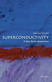 book cover of a very short introduction to superconductivity