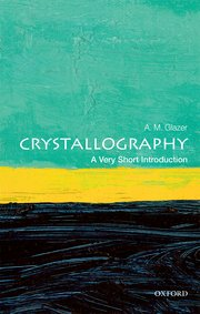 book cover of a very short introduction to crystallography