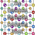 the cover of the quantum materials colouring book