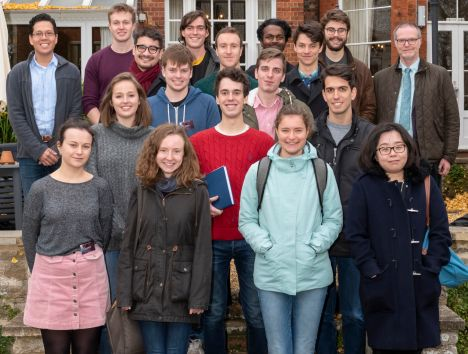 The 2018/19 student cohort at the Cosener's House, Abingdon – courtesy of UKRI-STFC Rutherford Appleton Laboratory