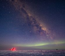 The IceCube Laboratory at the South Pole and the aurora australis