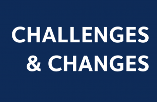Logo with text saying Challenges and Changes with department of physics logo