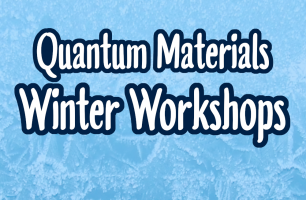 "Text ""Quantum Materials Winter Workshops"" on a pale blue, icy patterned background."