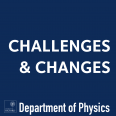 Logo saying 'Challenges and Changes Department of Physics'