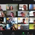 A screen shot of a video call between participants at this year's summer school