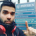 Hector Garcia Morales outside Oxford's Department of Physics